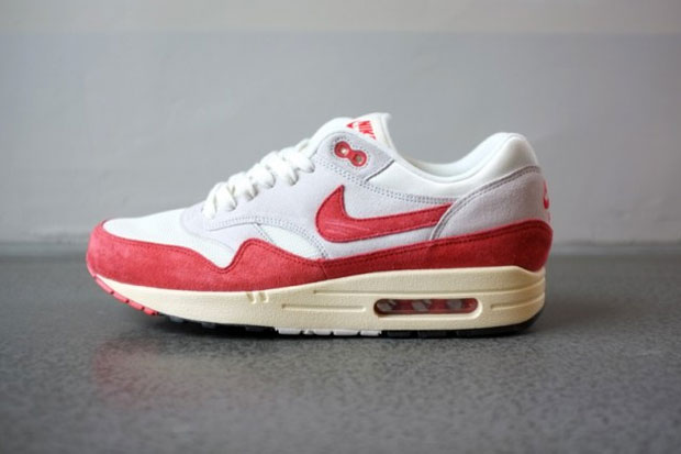 air max 1 rouge blanche