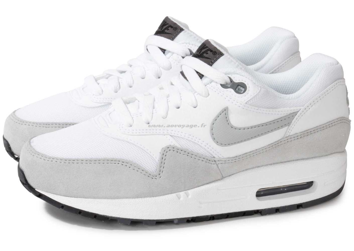 air max 1 essential femme grise blanc WISH- XvyZUsG