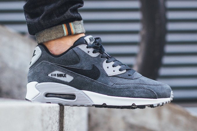 air max 90 leather gris