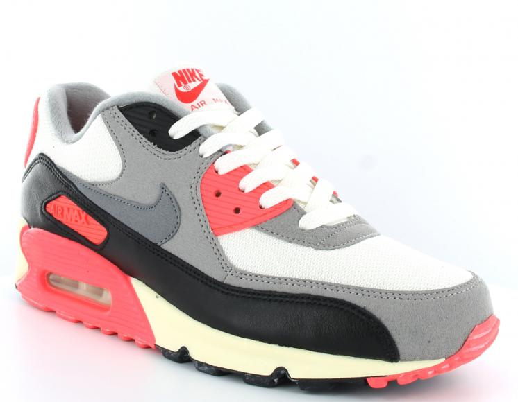 official site new release official images Vente en gros Destockage air max 90 noir gris rouge