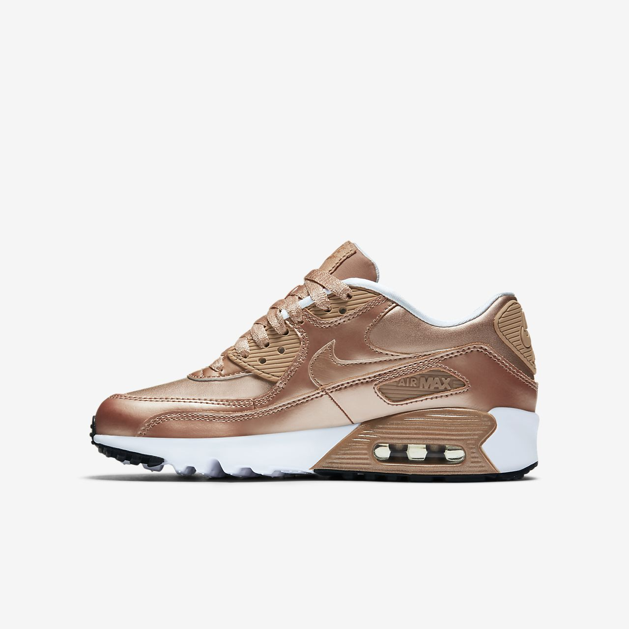 nike air max 90 leather rose gold EYAI- eMS
