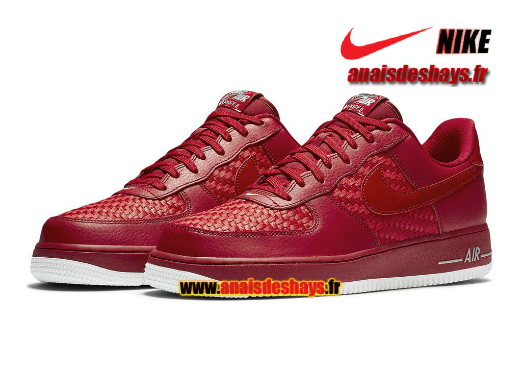 nike air force 1 rouge homme